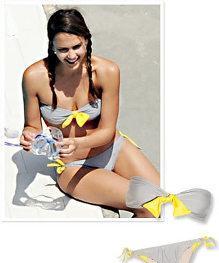Found It! Jessica Alba's Bandeau Gray and Yellow Bikini