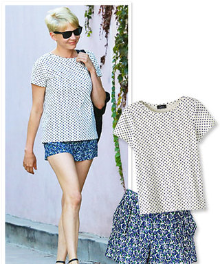 Found It! Michelle Williams's Playful Prints