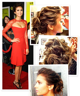 The Making of Nina Dobrev's Amazing Updo: Exclusive Behind-the-Scenes Photos