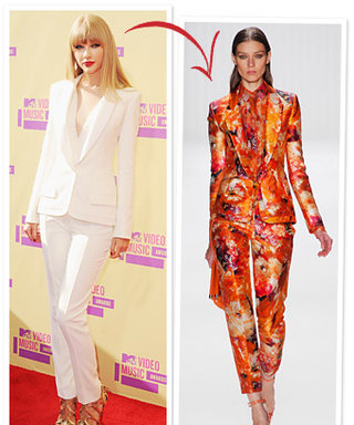 Taylor Swift's White VMAs Suit: Customized By Gilles Mendel!