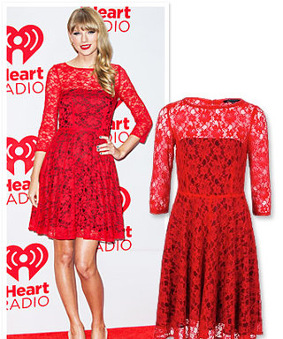 Found It! Taylor Swift's Red Lace Dress