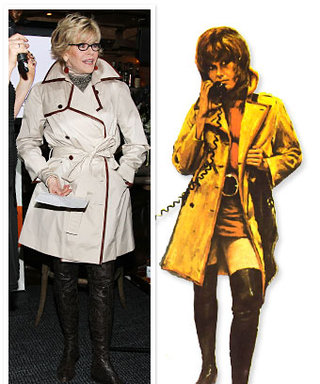 Jane Fonda Recreates Oscar-Winning Klute Fashion for Charity