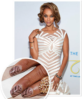 Tyra Banks' Striped Manicure How-To