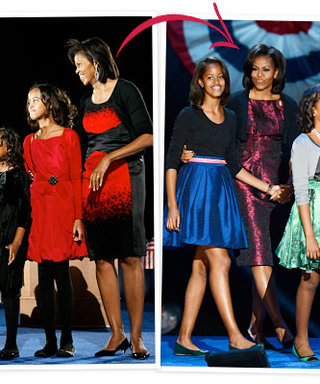 President Obama Re-Elected: The First Family Then and Now