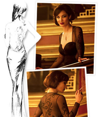 Skyfall Style: Severine's Black Gown Features 60,000 Swarovski Crystals