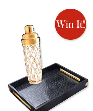 Holiday Gift Giveaway: Last Day to Enter to Win Altuzarra's Tray and Glass Shaker!