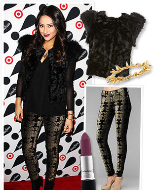 Found It! Shay Mitchell's Festive Holiday Outfit