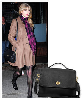 Found It! Taylor Swift's Black Coach Bag