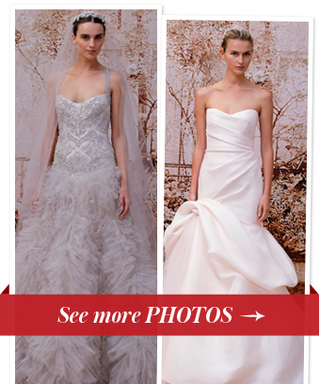 "Monique Lhuillier On Her Fall 2014 Bridal Collection: ""I Love the Gowns With a Little Color."""