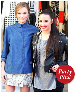 Kate Bosworth and Demi Lovato Open Topshop in L.A., and More!