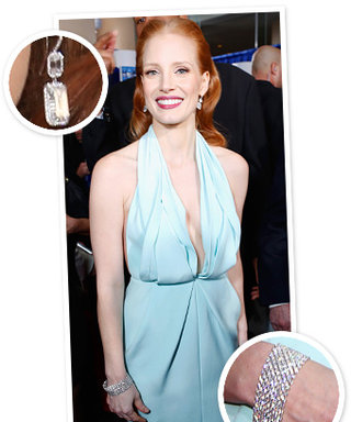 Golden Globes 2013: Jessica Chastain Wore $3 Million Worth of Harry Winston Jewelry