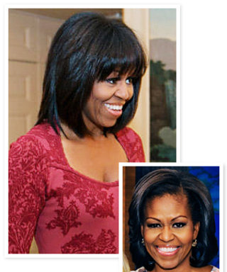 First Lady Michelle Obama Got Bangs!