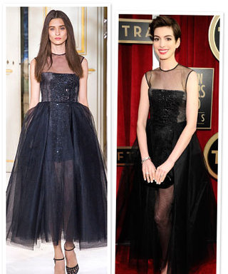 Anne Hathaway's Dress Traveled From Paris to the SAG Awards
