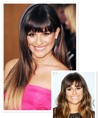 New Hairstyle 2013: Lea Michele's Dip-Dyed Hair Color
