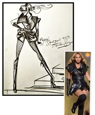 Beyoncé's Super Bowl Halftime Show Costume: Sketch to Reality