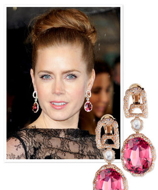 BAFTA Awards: Amy Adams Earrings's Featured 1,451 Diamonds, Moonstones, and Rubies