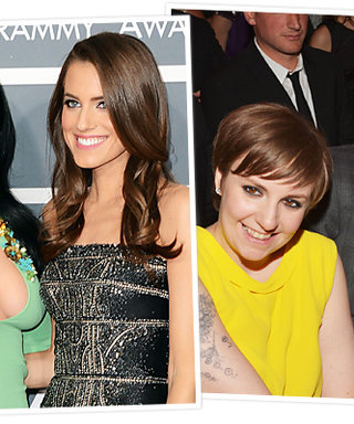 Girls as Grammy Dates! Allison Williams and Lena Dunham