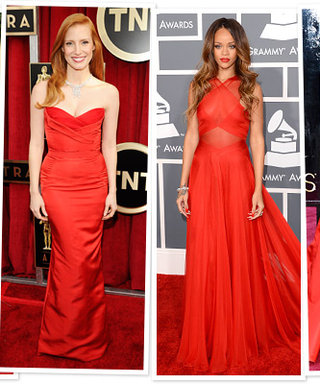 Red Dresses On the Red Carpet: See Our Favorite Color Of The 2013 Award Season