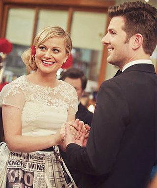 """Adam Scott on Amy Poehler's Parks and Recreation Wedding Dress: """"There Wasn't a Dry Eye in the House"""""""