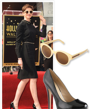 Found It! Anne Hathaway's Chic Sunglasses and Classic Black Pumps