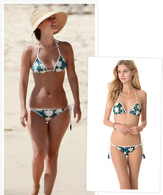 Found It! Rachel Bilson's Graphic Floral Triangle Bikini