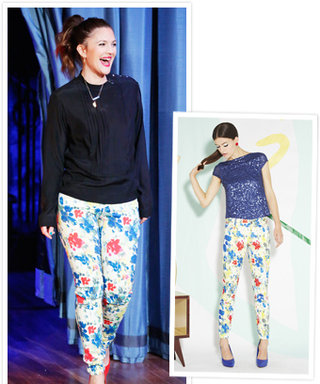 Found It! Drew Barrymore's Printed Floral Jeans