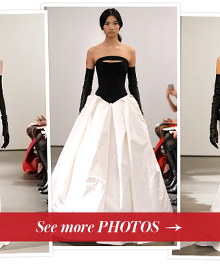 "See Vera Wang's New Wedding Dress Collection: 17 Black and White Gowns to Play on ""Modern Sensuality"""