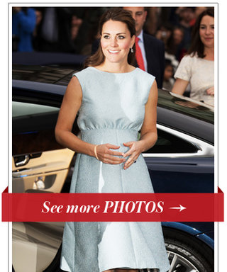 Is Kate Middleton's Pastel Blue Dress an Indication She's Having a Boy?