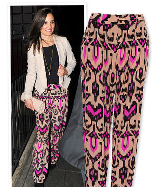 Ikat Believe It! Check Out Pippa Middleton's Printed Pants