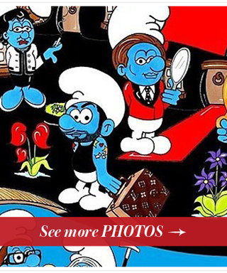 Fashion Goes Blue! See Marc Jacobs, Coco Chanel, and More as Smurfs