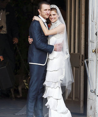 Lake Bell's Marchesa Wedding Dress: See the Photo