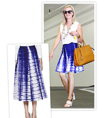 Found It! Reese Witherspoon's Hand-Dyed Tory Burch Skirt