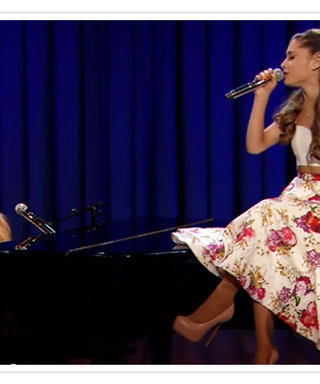 Watch This Cute Video of Ariana Grande Rapping to Broadway Tunes with Jimmy Fallon, Plus Shop Her Look for Under $80!