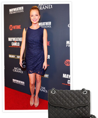 Found It! Emily VanCamp's Quilted Rebecca Minkoff Leather Mini-Bag