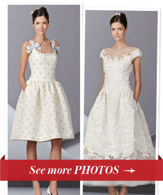 Carolina Herrera Bridal Hemlines Go Up, Up, Up for Fall 2014