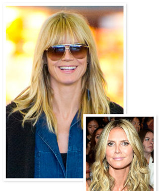 It's Back to Bangs for Heidi Klum!