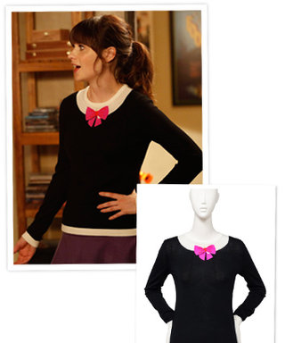 Shop the Show via Possessionista: Zooey Deschanel's Bow Neck Sweater on New Girl
