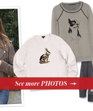 Copy Jessica Alba's Animal Sweater Look With 13 Adorable Picks