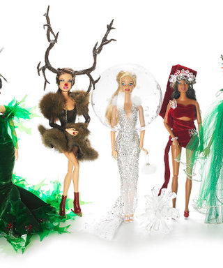 "Designer Stephen Jones Gives A Whole New Meaning To ""Holiday Barbie"""