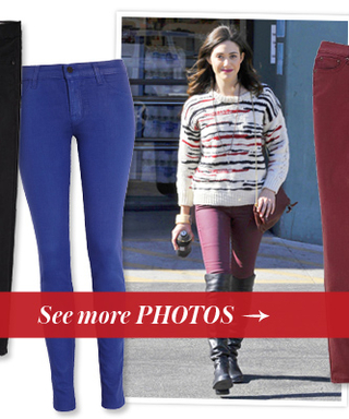 Get the Look: Emmy Rossum's Coated Jeans