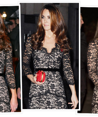 Third Time's the Charm: Kate Middleton Recycles Her Temperley London Gown (Again!)