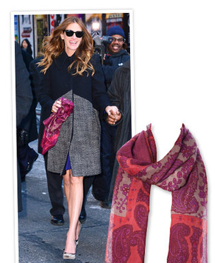 Steal Her Style (For a Good Cause): Julia Roberts' Printed Scarf