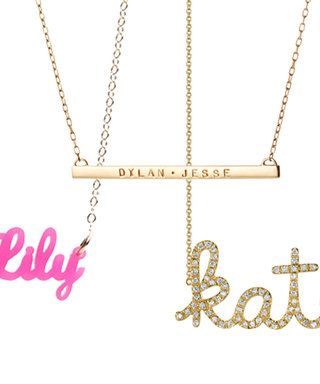 Carrie Bradshaw Would Be So Proud! Shop Script Name Necklaces