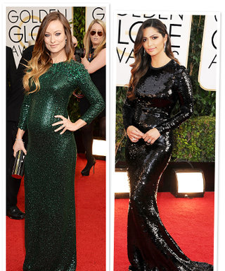 Sequin Déjà Vu: Olivia Wilde and Camila Alves Sparkle in Similar Gowns at the Golden Globes
