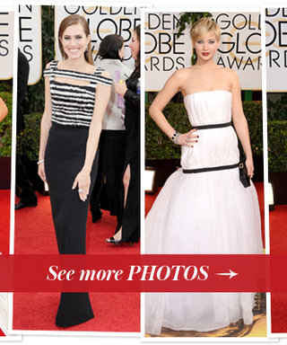 Trend Alert: Black and White Dominates the Red Carpet at the Golden Globes