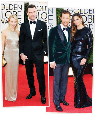 How Did These Couples Coordinate at the Golden Globes? By Wearing Matching Designers!