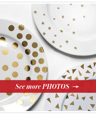 Try This DIY: Perfect Party Plates for Your Awards Show Soireé