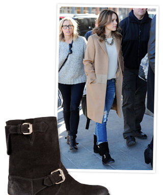 Found It! Rachel McAdams' Cozy Motorcycle Boots