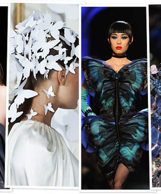 All Aflutter! Butterflies Ruled the Runway at Couture Fashion Week