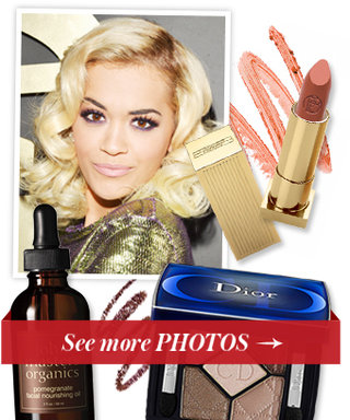 See the Exact Products Rita Ora Used For Her Grammys Color-Coordinated Makeup Look!
